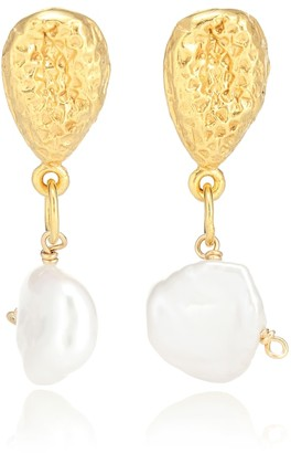 Alighieri Exclusive to Mytheresa The Late Night Twinkling 24kt gold-plated earrings with pearls