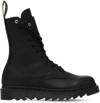 Yohji Yamamoto Dr. Martens Leather Twisted Boots