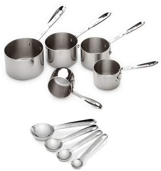 All-Clad Eight-Piece Stainless Steel Measuring Cup and Spoon Set