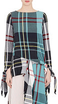 J.W.Anderson Women's Knotted Plaid Top