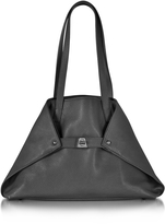 Akris Ai Small Black Leather Tote Bag
