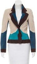 Saint Laurent Colorblock Suede Jacket