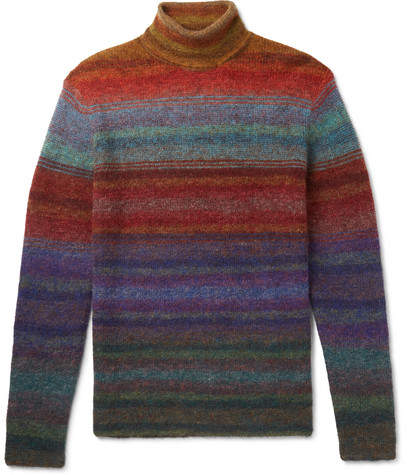 Missoni Slim-Fit Striped Knitted Rollneck Sweater