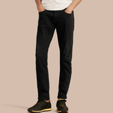 Burberry Slim Fit Stretch-denim Jeans , Size: 29r, Black