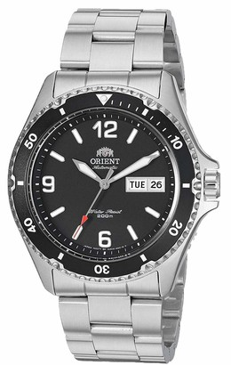Orient Men's Mako II Japanese Automatic Sport Watch with Stainless Steel Strap Silver 22 (Model: FAA02001B)