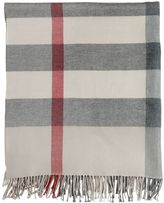 Burberry Fringed Check Wool Blanket