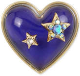 Betsey Johnson Gold-Tone Pavandeacute; Stars and Blue Stone Heart Mood Ring
