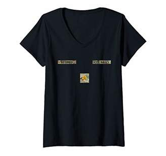 Womens Retired Army Major Commissioned Officer Military Name Tape V-Neck T-Shirt