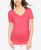 A Pea in the Pod Maternity Ruched V-Neck Tee