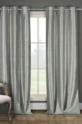 Duck River Textile Daenery's Faux Silk Foamback Grommet Curtains - Set of 2 - Grey