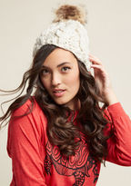 ModCloth Holy Cozy Knit Hat in Ivory