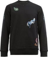 Lanvin paisley embroidered sweatshirt - men - Cotton/Polyester/Spandex/Elastane - M