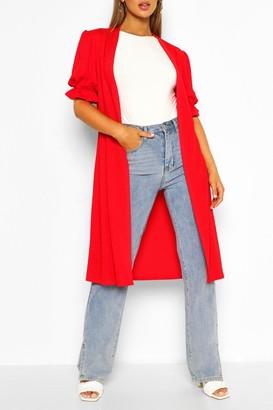 boohoo Frill Short Sleeve Maxi Kimono