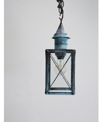 Breakwater Bay Piatt 1-Light Outdoor Hanging Lantern Color: Antique Brass, Glass Type: Seeded