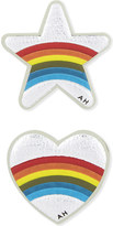 Anya Hindmarch Star and heart mini leather stickers