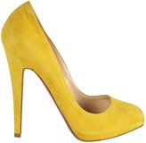 Yellow Suede Heels - ShopStyle