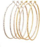 Charlotte Russe Etched Metal Hoop Earrings - 3 Pack
