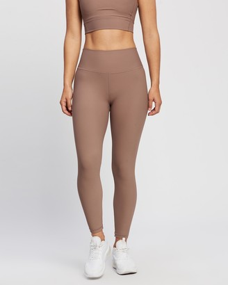 All Fenix - Women's Brown 7/8 Tights - Ribbed Core 7-8 Leggings - Size One Size, M at The Iconic