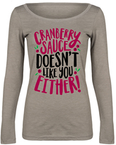 Stone 'Cranberry Sauce Doesn't Like You' Long-Sleeve Tee - Women