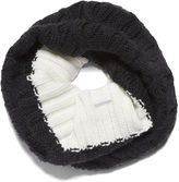 Nine West Hand Knit Colorblock Neckwarmer