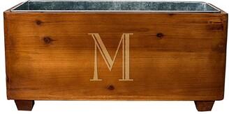 Cathy's Concepts Monogram Wood Wine Trough