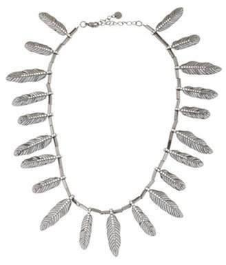House Of Harlow Crystal Feather Necklace Crystal Feather Necklace