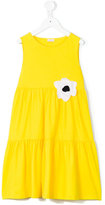 Il Gufo floral appliqué dress - kids - Cotton/Spandex/Elastane - 8 yrs