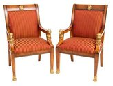 Versace Upholstered Arm Chairs