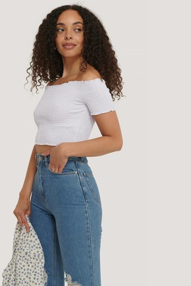 NA-KD Off Shoulder Smock Top