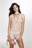 GUESS Sleeveless Pleated Shell Top