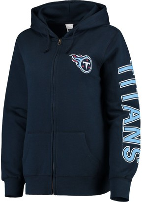 Unbranded Women's Navy Tennessee Titans Extra Point Two-Hit Full-Zip Hoodie