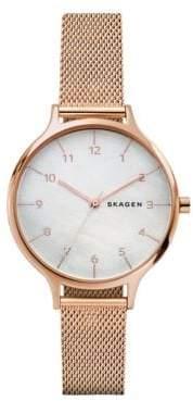 Skagen Anita Stainless Steel Mesh Bracelet Strap Watch