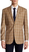 English Laundry Brown Windowpane Two Button Notch Lapel Suit Separates Jacket