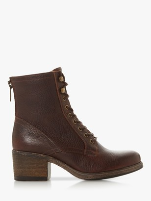 Bertie Painter Leather Lace Up Ankle Boots