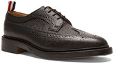 Thom Browne Classic Long Leather Wingtips in Black | FWRD