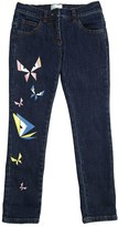 Fendi Butterflies Printed Stretch Denim Jeans