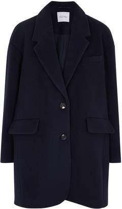 American Vintage Bilofield Navy Wool-blend Coat
