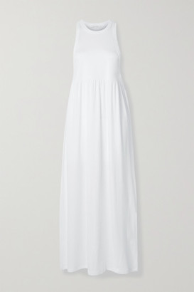 Ninety Percent Net Sustain Organic Cotton-jersey Maxi Dress - White