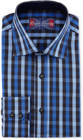 English Laundry Check Cotton Dress Shirt, Blue