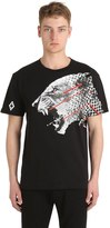 Marcelo Burlon County of Milan Sham Printed Cotton Jersey T-Shirt