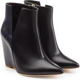 Rupert Sanderson Leather Edda Wedge Boots