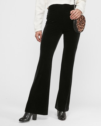Express Super High Waisted Velvet Flare Pant