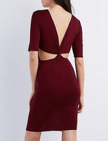 Charlotte Russe Twisted Cut-Out Bodycon Dress