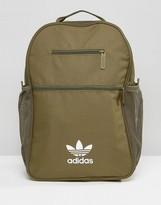 adidas Trefoil Logo Backpack In Khaki
