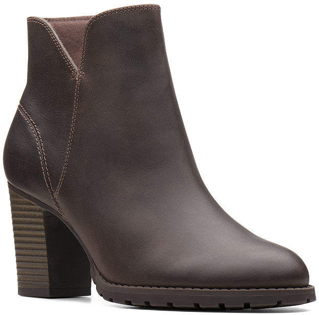7808a1c76053a Clarks Brown Leather Women s Boots - ShopStyle