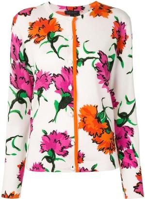 Escada Floral-Print Buttoned Cardigan