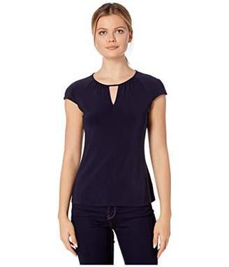 Tommy Hilfiger Women's Keyhole Raglan Short Sleeve Knit Top