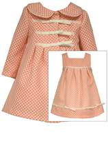 Bonnie Jean Girls Polka-dot Easter Dress & Coat Ensemble