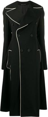 Yohji Yamamoto Flared-Style Double-Breasted Coat