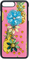 Dolce & Gabbana iPhone 7 Plus pineapple print case - women - Calf Leather/Plastic/glass - One Size